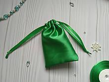 Мішечок для подарунків з атласу 8 х 12 (мішечок для упаковки прикрас) зелений