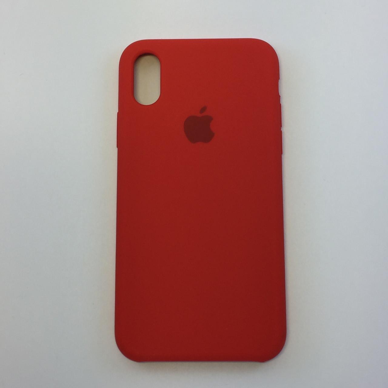 Силиконовый чехол iPhone Xr, темно терракотовый, copy original