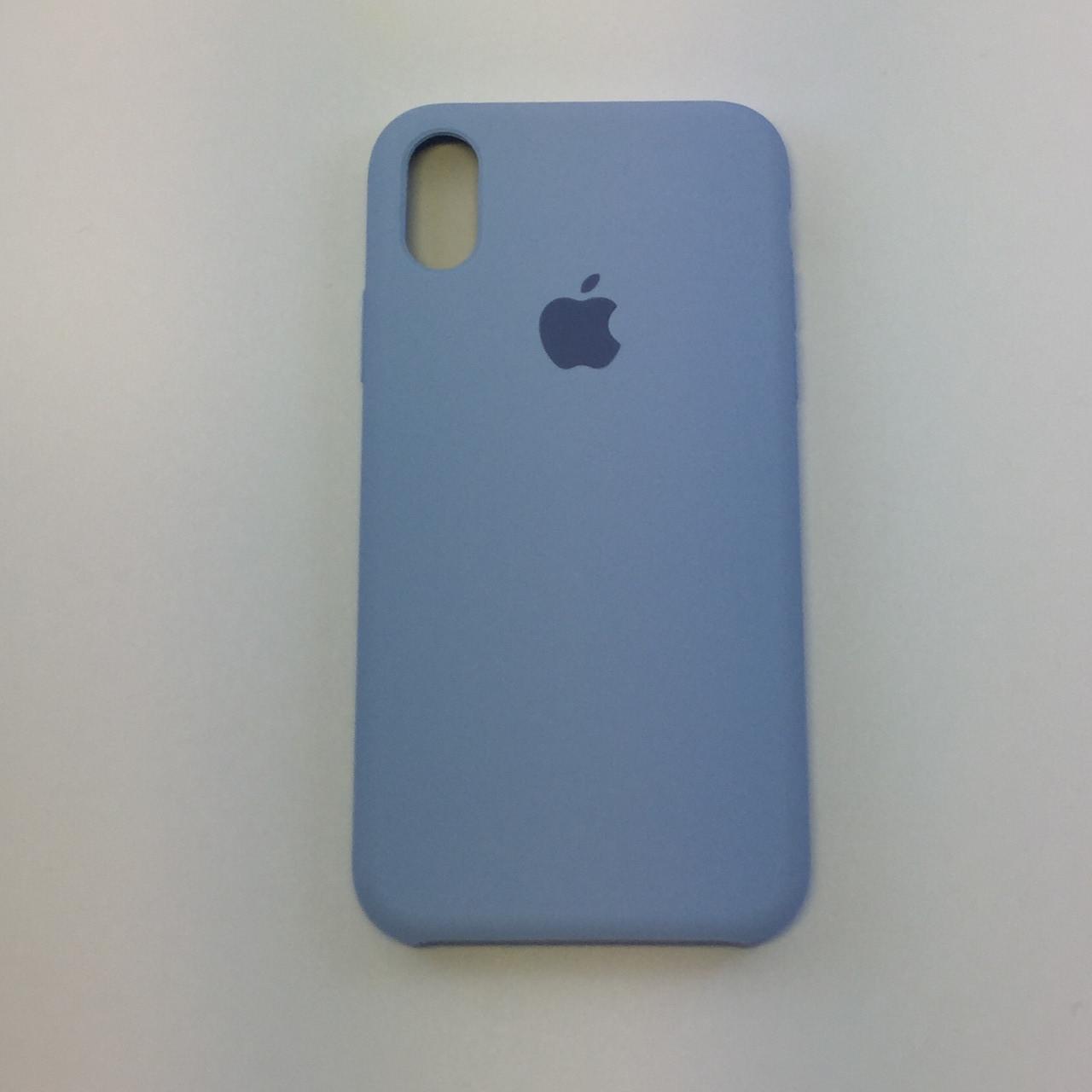 Силиконовый чехол iPhone Xr, кремово-лиловый, copy original