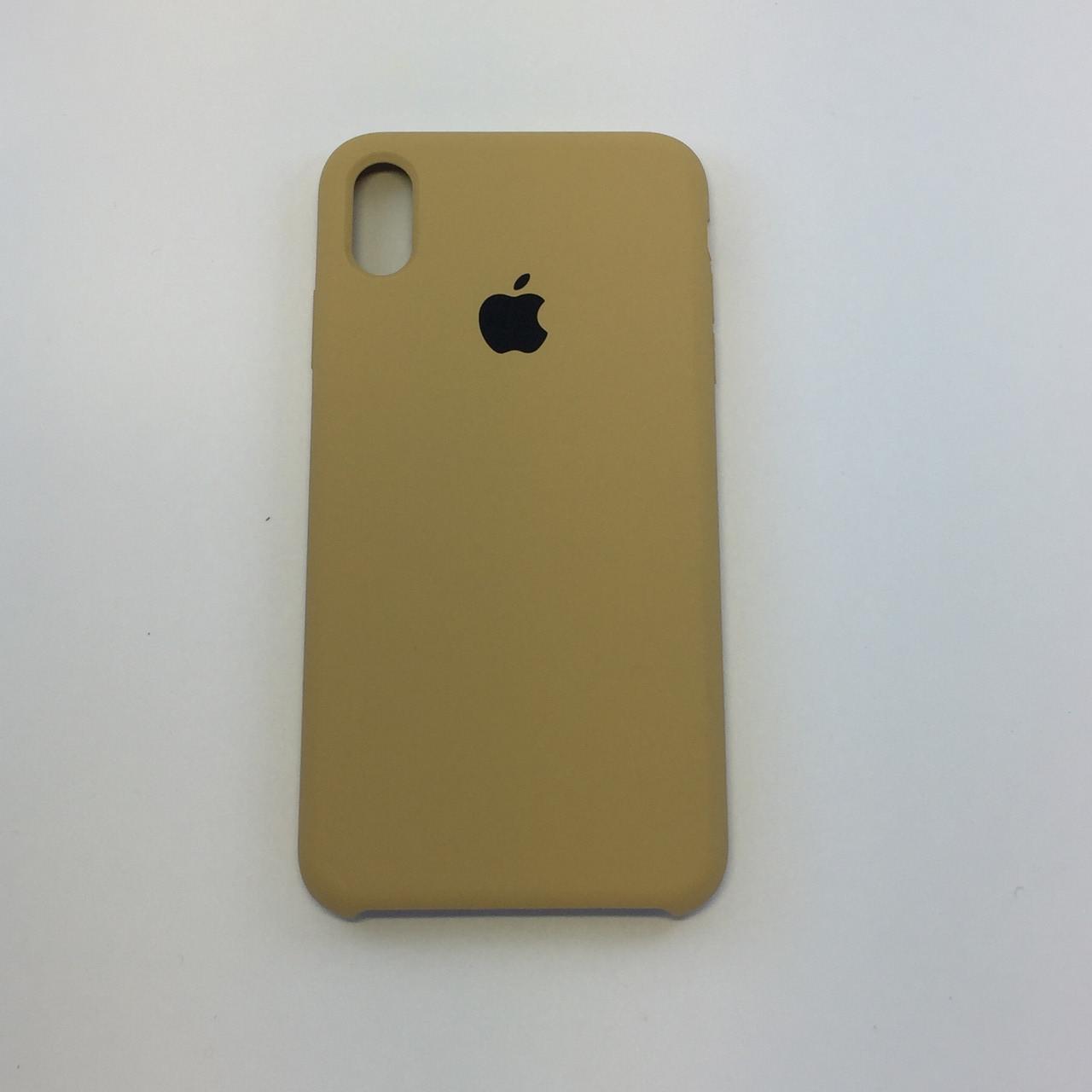 Силиконовый чехол iPhone Xs Max, золото, copy original
