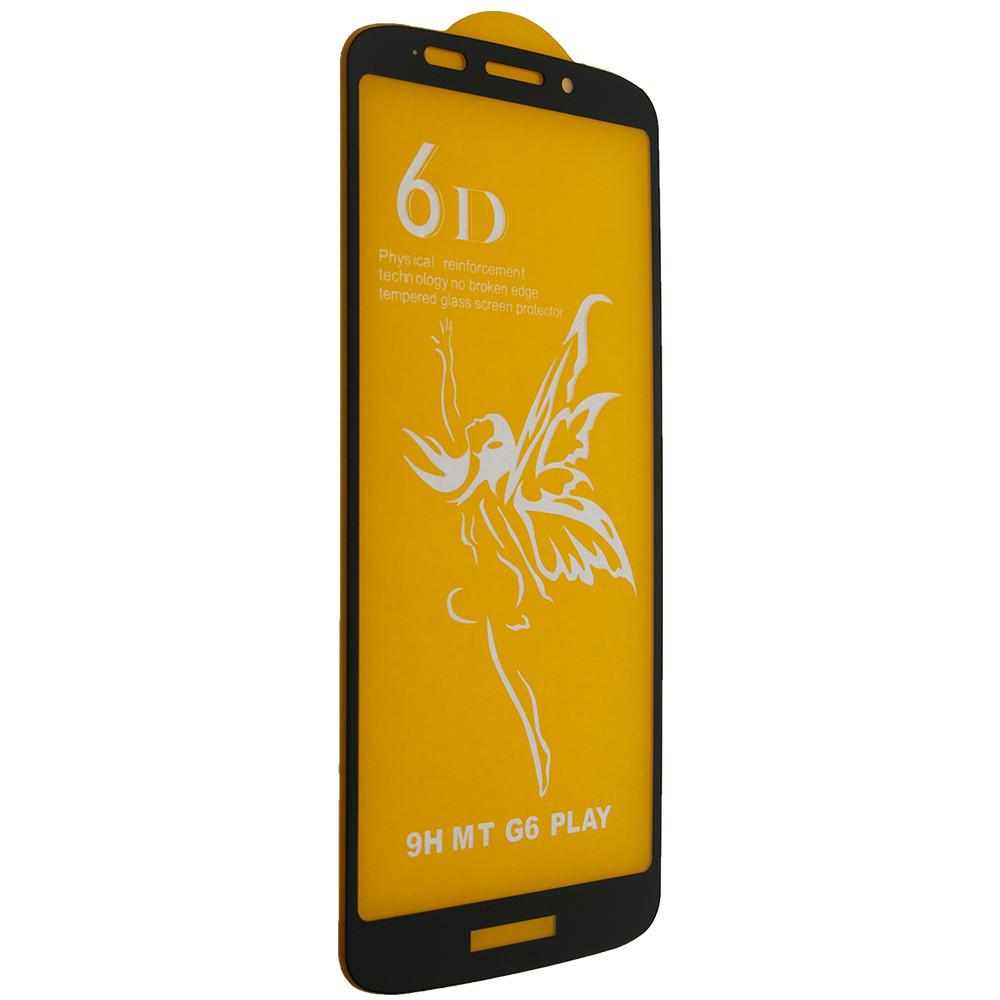 Защитное стекло Premium 6D Motorola G6 Play Черный