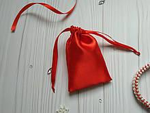 Мішечок для подарунків з атласу 8 х 12 (мішечок для упаковки прикрас) червоний