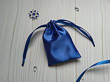 Мішечок для подарунків з атласу 8 х 12 (мішечок для упаковки прикрас) темно-синій