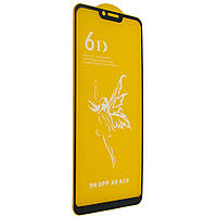 Защитное стекло Premium 6D для Oppo A3S | A5 - черный