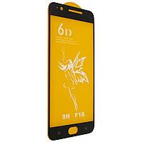 Защитное стекло Premium 6D OPPO F1S - черный