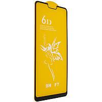Защитное стекло Premium 6D OPPO F7 - черный