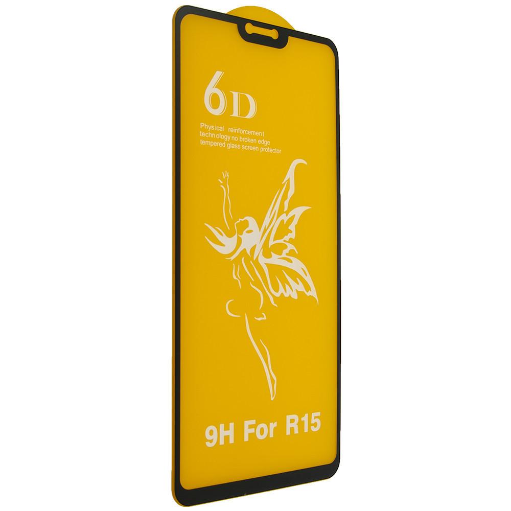 Защитное стекло Premium 6D OPPO R15 - черный