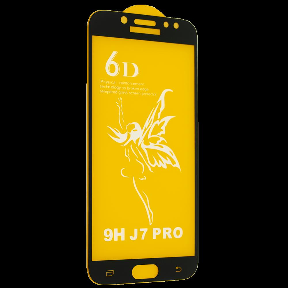 Защитное стекло Premium 6D для Samsung J730 Galaxy J7 (2017) - черный