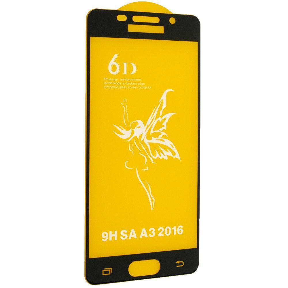 Защитное стекло Premium 6D для SAMSUNG A310 Galaxy A3 (2016) - черный