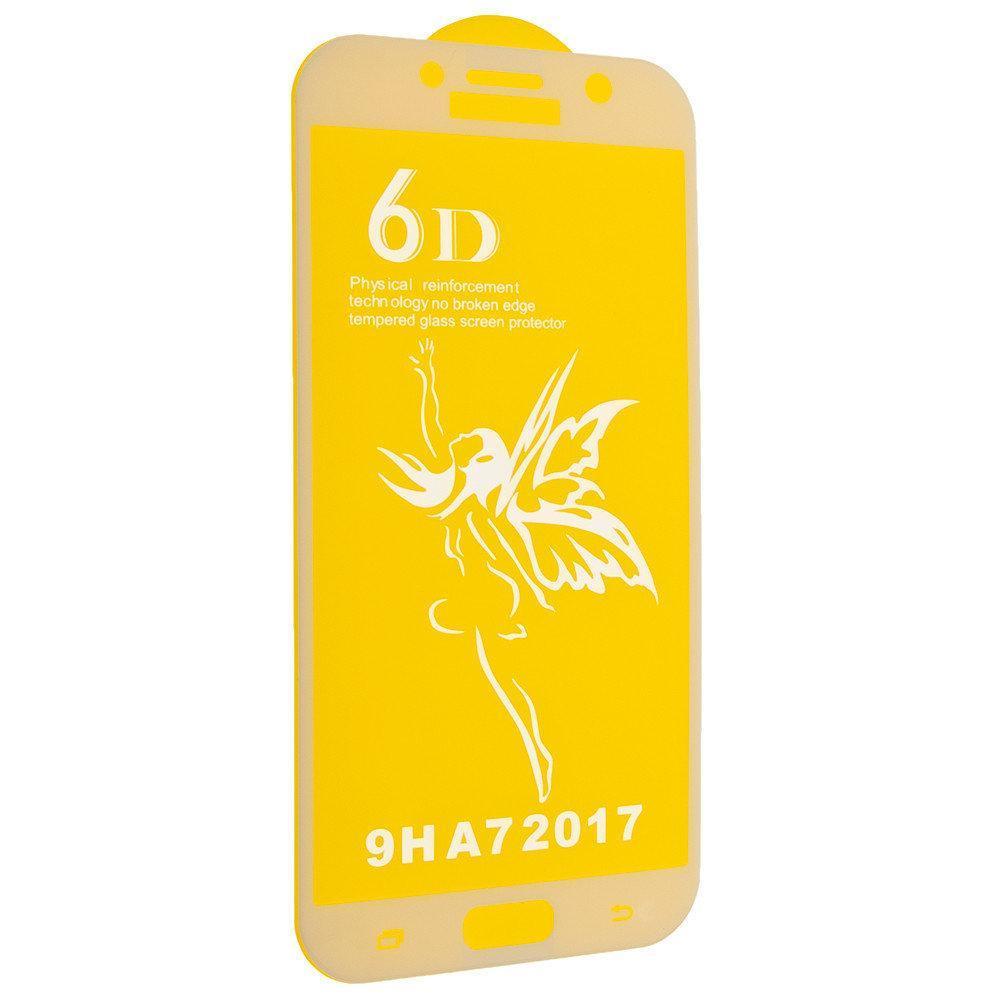Защитное стекло Premium 6D для Samsung A720 Galaxy A7 (2017) - белый