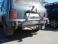 Калитка на заднюю дверь-крепление запаски, порошок/ черный мат Lada Niva (лада нива/ ВАЗ 2121/ ВАЗ 2131) 1977+