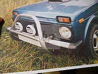 Защита переднего бампера (кенгурятник) порошок/ черный мат Lada Niva (лада нива / ВАЗ 2121/ ВАЗ 2131) 1977+