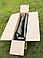 Надувная гребная одноместная лодка из Пвх Л190ПУ и длинные весла, фото 6