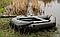 Надувная гребная одноместная лодка из Пвх Л190ПУ и длинные весла, фото 7