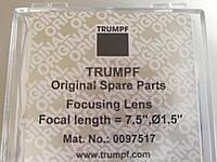 """Линза Trumpf Original Spare Parts Focusing lens focal length = 7.5"""",o=1.5"""""""