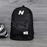Молодежный городской, спортивный рюкзак, портфель New Balance, нью бэланс. Черный