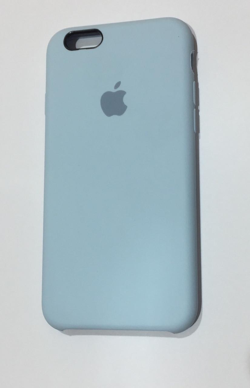 Силиконовый чехол iPhone 6/6s, нежно-голубой, copy original