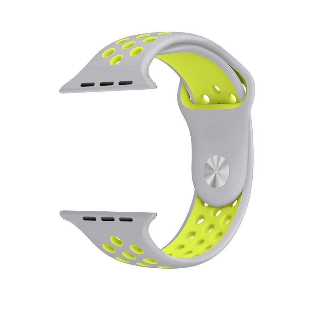 Ремешок Nike+ Sport Band для Apple Watch 42/44 mm Grey/Yellow