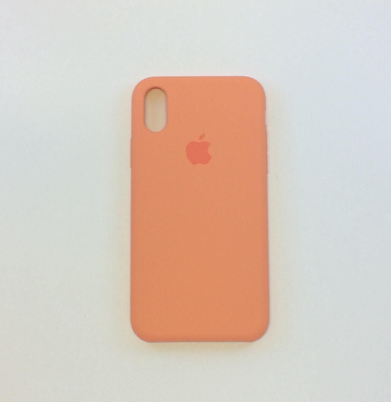 Силиконовый чехол iPhone X/Xs, абрикос, №42 - copy original