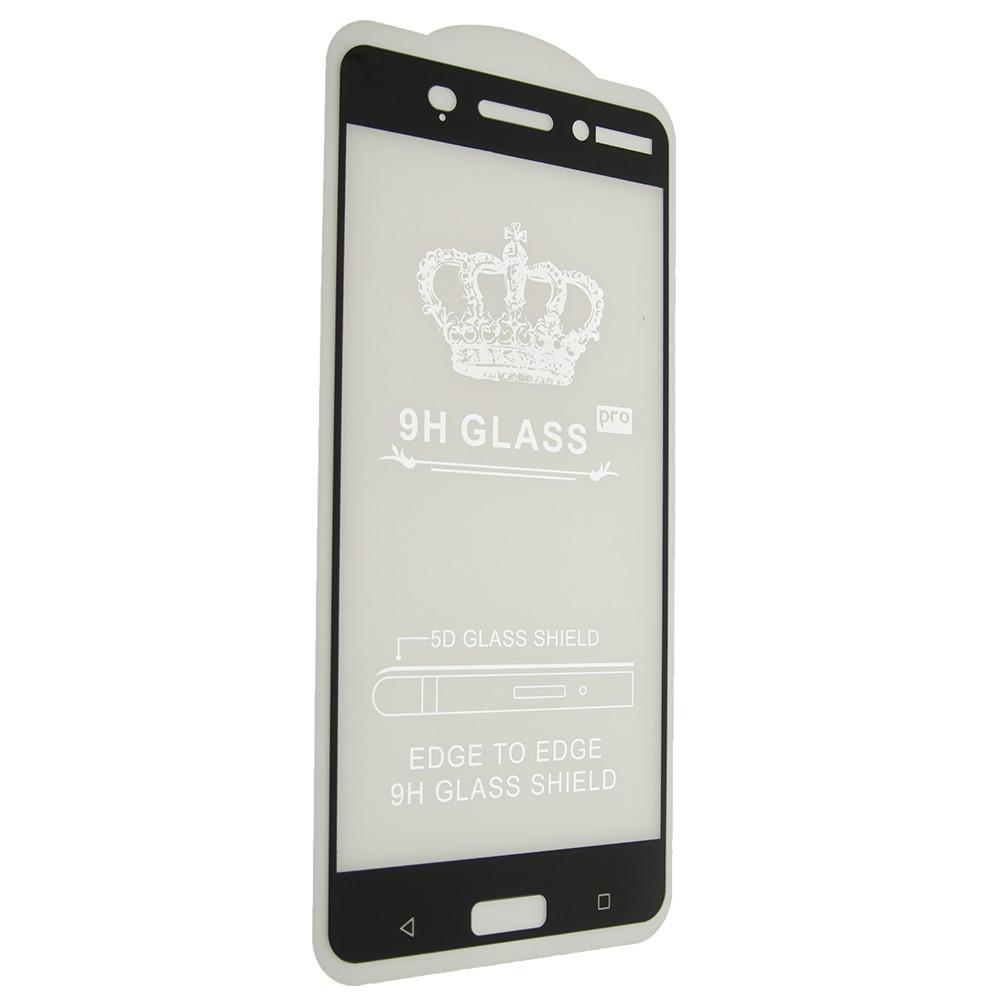 Защитное стекло 5D Nokia 6 - черный