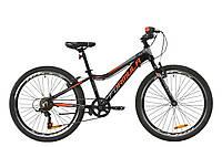 """Велосипед AL 24"""" Formula ACID 1.0 Vbr 2020 (черно-красный с серым)"""