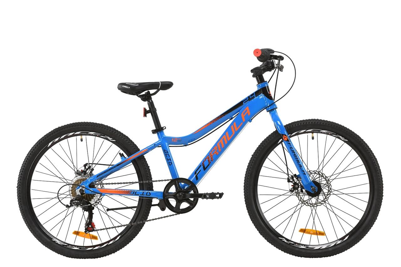 """Велосипед AL 24"""" Formula ACID 1.0 DD 2020 (сине-черно-оранжевый)"""