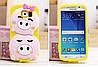"""Samsung S6 G920  противоударный силиконовый 3D TPU чехол накладка бампер для телефона """"QUIPA PIGS"""", фото 2"""