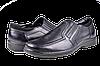Мужские туфли комфорт mida 11179ч чёрные   весенние