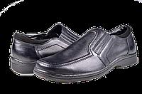 Мужские туфли комфорт mida 11179ч чёрные   весенние , фото 1