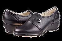 Женские туфли кожаные  mida 21360ч чёрные   весенние , фото 1