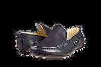 """Мужские туфли в школу """"комфорт"""" calore x02-30a чёрные   весенние , фото 1"""