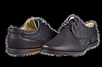 """Мужские туфли в школу """"комфорт"""" calore b511-36 чёрные   весенние , фото 1"""
