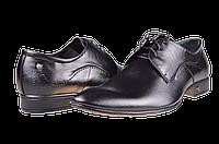 Мужские туфли кожаные  faro 362-51 черные   весенние , фото 1