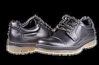 Мужские туфли кожаные  mida 11815ч черные   весенние , фото 1