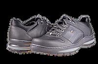 Мужские туфли кожаные  mida 11091ч черные   весенние
