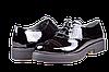 Женские туфли кожаные  mida 21405лак ч черные   весенние