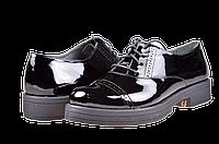 Женские туфли кожаные  mida 21405лак ч черные   весенние , фото 1