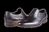Мужские туфли кожаные  mida 11115ч черные   весенние , фото 1
