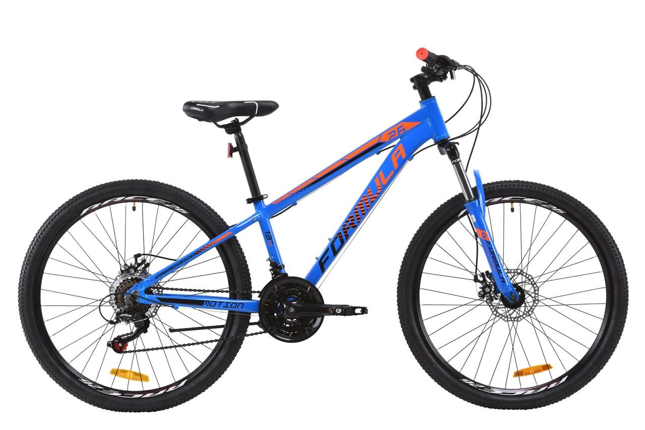 """Горный велосипед AL 26"""" Formula MOTION AM DD 2020 (сине-черно-оранжевый)"""