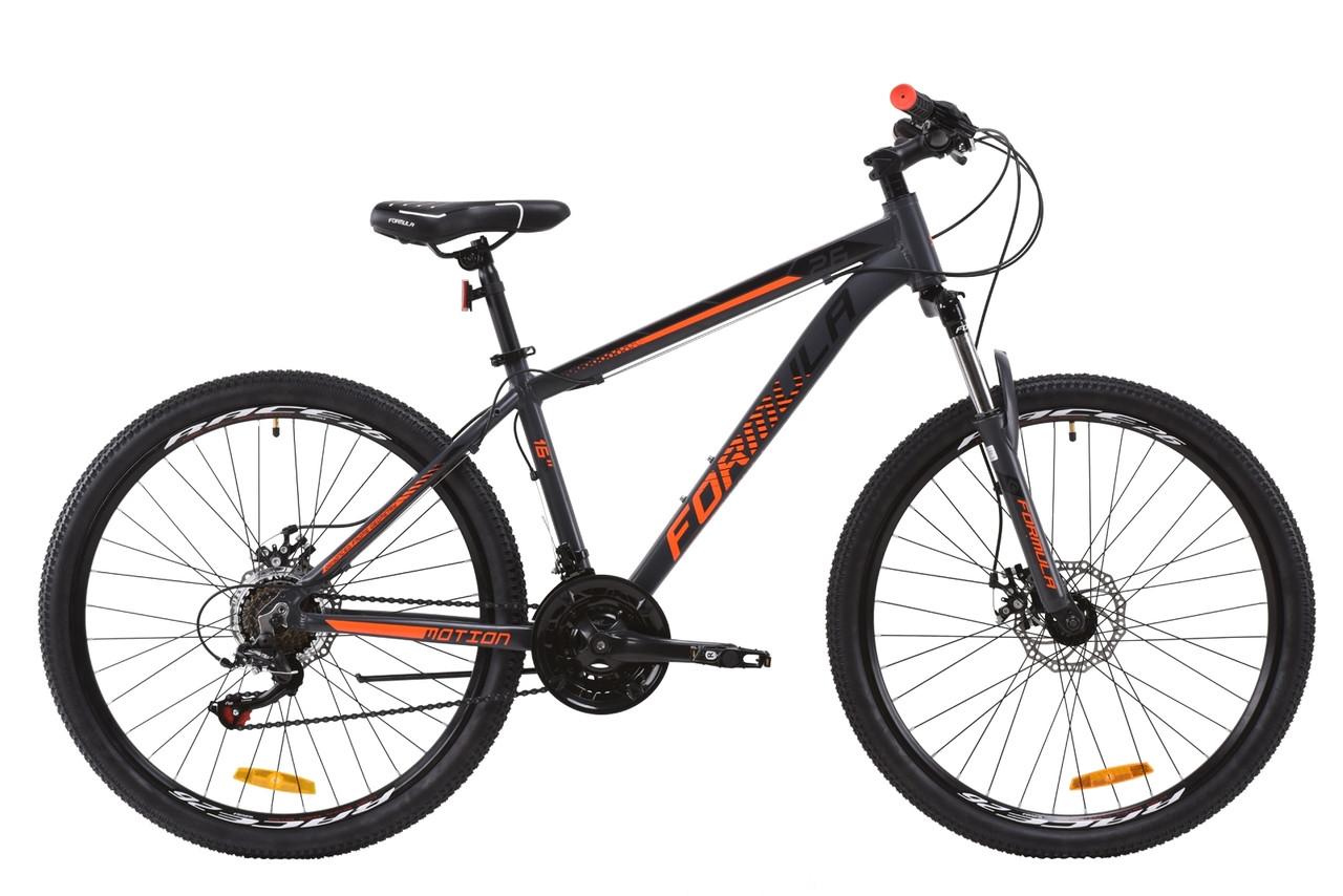 """Горный велосипед AL 26"""" Formula MOTION AM DD 2020 (серо-оранжевый (м))"""