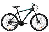 """Горный велосипед AL 26"""" Formula MOTION AM DD 2020 (черно-бирюзовый (м))"""