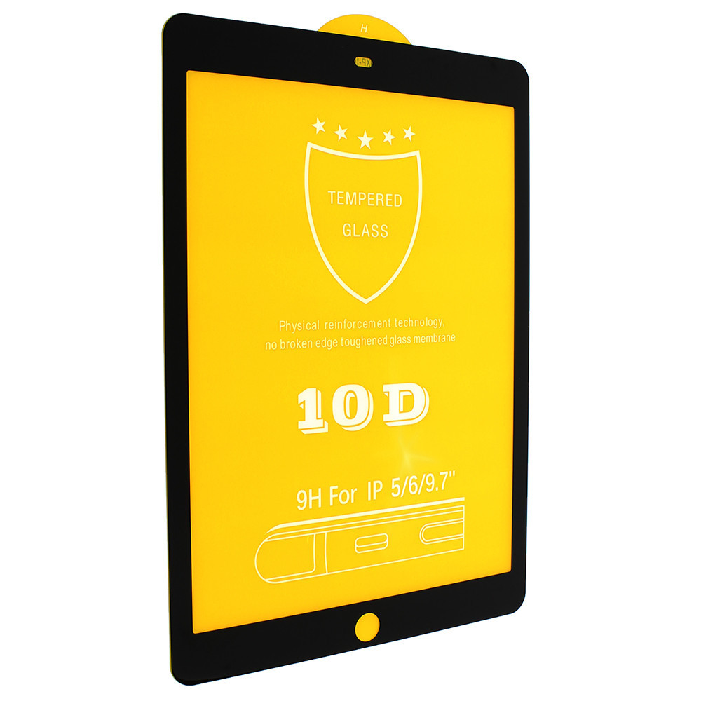 Защитное стекло 10d для iPad 6 / iPad 5 / AIR / AIR 2 (Черный)