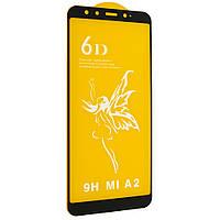 Защитное стекло 6D Premium для Xiaomi MI A2   6X Черный