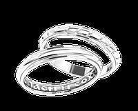 """Серебряные обручальные кольца """"Спаси и сохрани"""" пара"""
