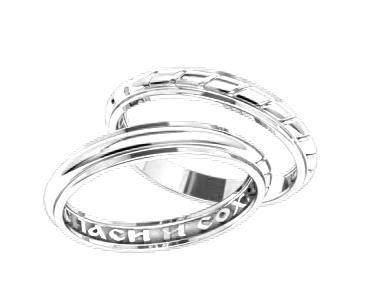 94e17209af41 (Пара) Серебряные обручальные кольца