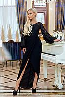 Женское вечернее длинное платье норма и батал в разных цветах