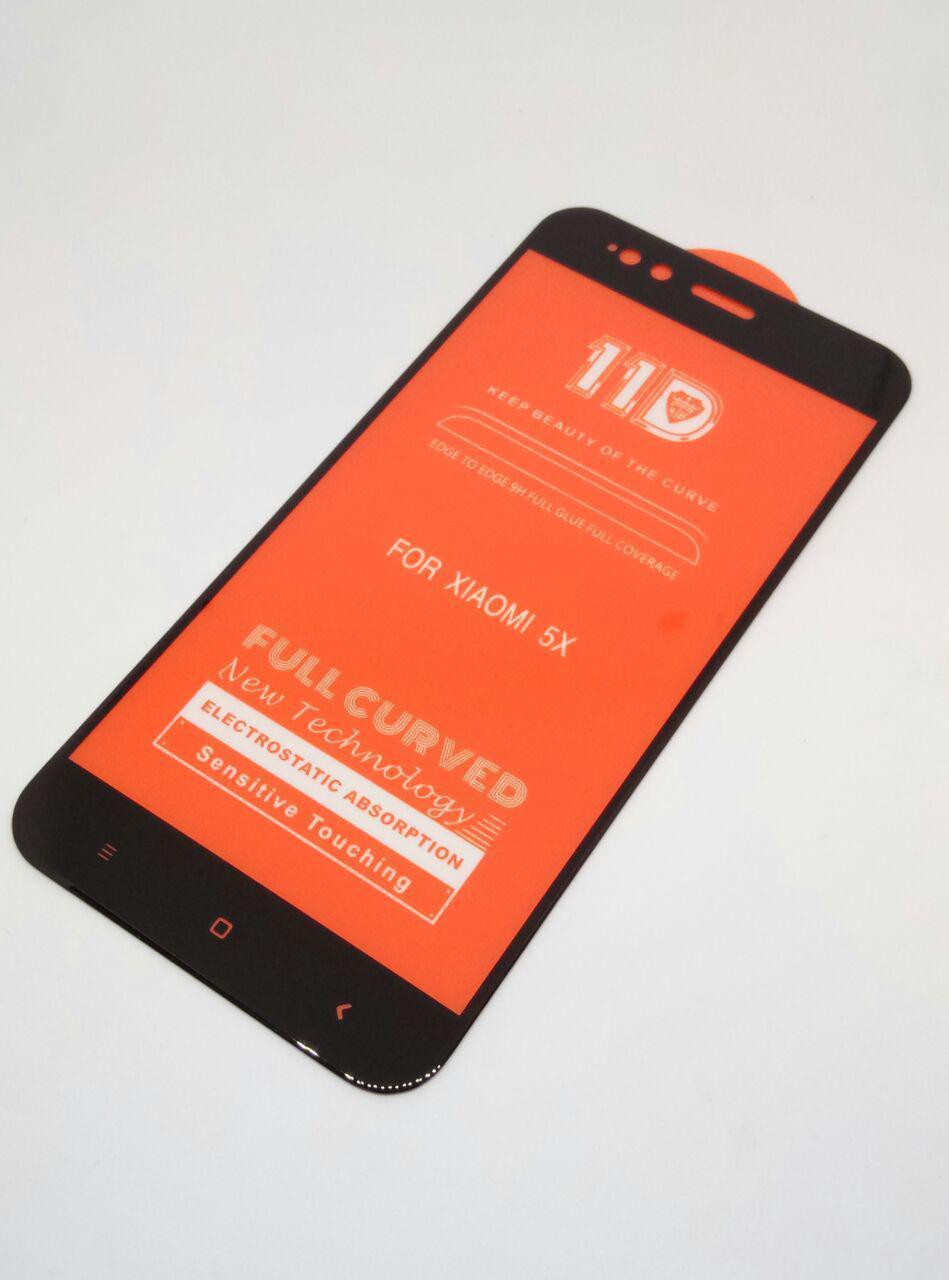 Защитное стекло 11D для Xiaomi Redmi Mi 5x/A1 (Черное)