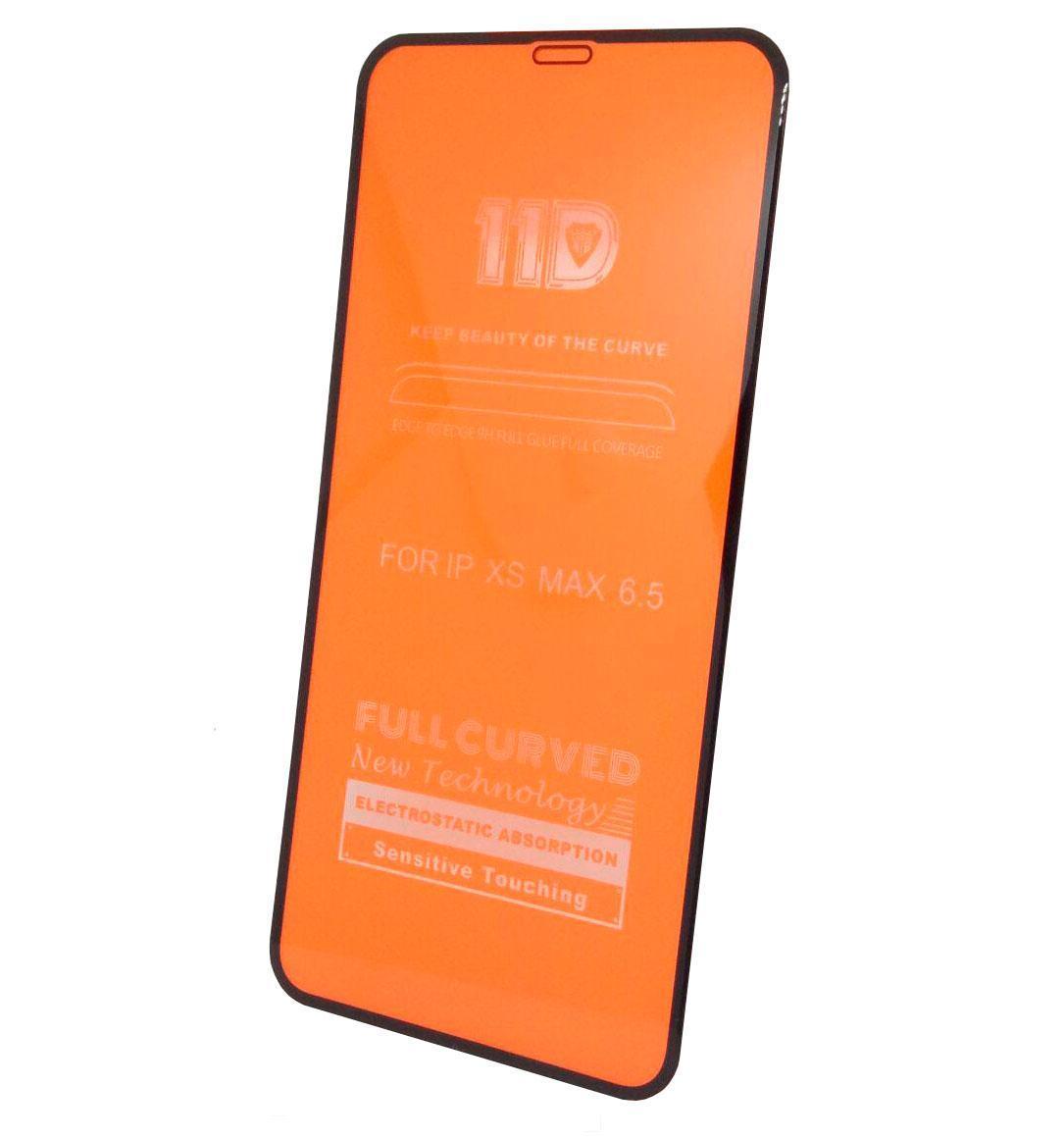 Защитное стекло 11D iPhone Xs Max (Черное)