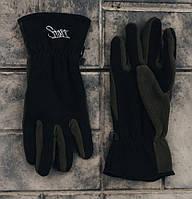 Мужские перчатки Staff fleece black and haki size M-L