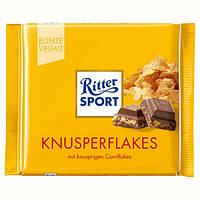 Шоколад Ritter Sport Knusperflakes, 100 г (Германия)